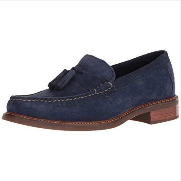 45ad90151fc Cole Haan pinch sanford tassel loafers suede 10.5